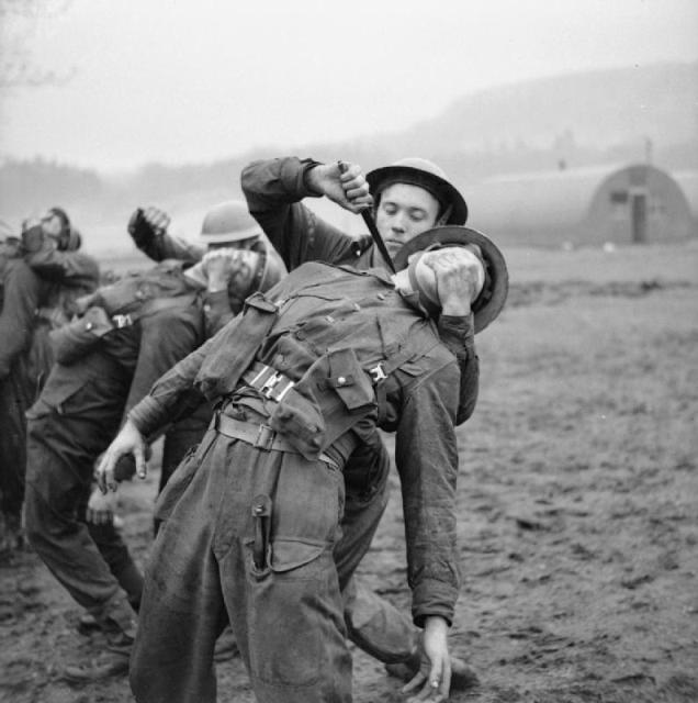 Commando training-use of fighting knife for close quarter combat