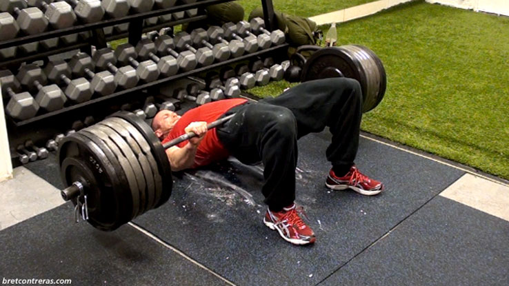 weighted-glute-bridge