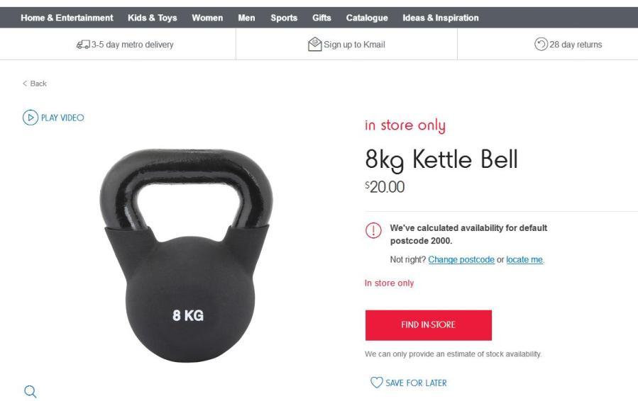 K-Mart Kettlebells