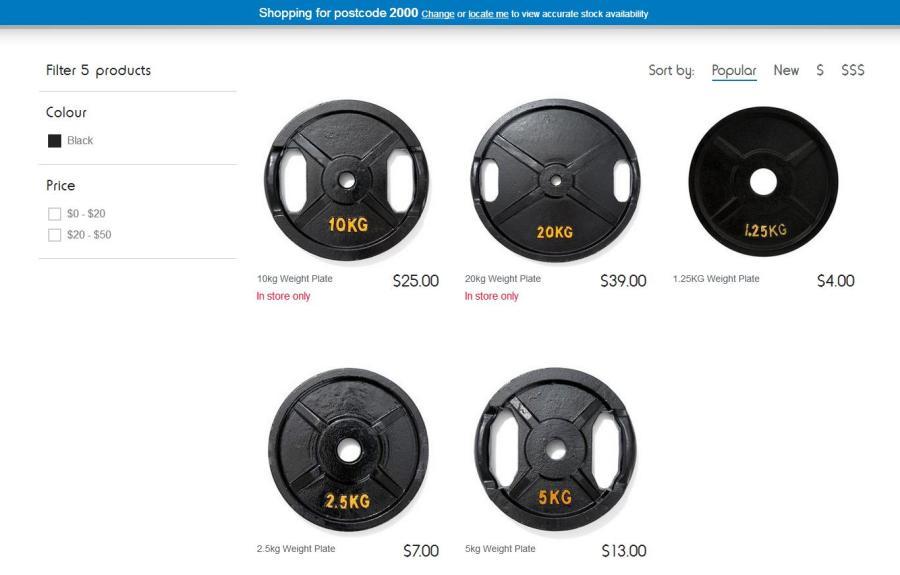 K-Mart weight plates